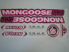 Mongoose PRO RX 10.9 Titanium Stickers  White, Pink & Black.
