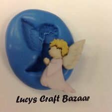 Silicone Mould Angel Gabriel Xmas Christmas Nativity Cake Pop Topper Button Fimo
