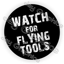 Flying Tools Hard Hat Sticker / Decal Funny Label Helmet Construction Laborer