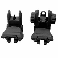 """.223 5.56 Tactical Polymer Front And Rear AR Flip Up Sight Set Black BLACK """