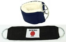 Ankle Wrist Strap PAIRThick Fur Padding for cable machine leg pulley stretching
