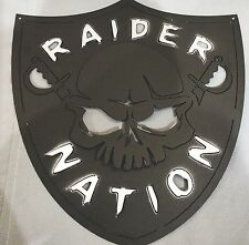Raider Nation Sign    Oakland Raiders Mancave NFL