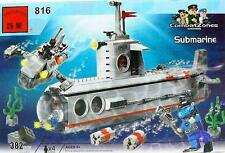 Enlighten Bricks #816 Navy Submarine 382 Pieces Compatible
