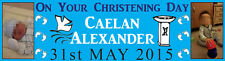 Personalised Christening Poster Banner with your photo & text