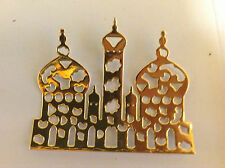 "Cardmaking  Die Cuts ""Temples"" Gold Mirror Card Qty 10 - 6.4cms x 5.3cms"