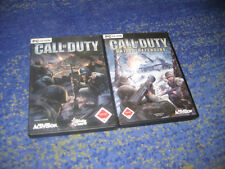 PC SPIELE SAMMLUNG - CALL OF DUTY 1 + UNITED OFFENSIVE FSK 18 ego shooter