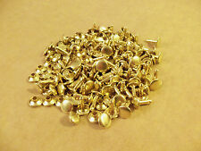 """Double Cap Rapid Rivets 7/16"""" Solid Brass 100 pack"""
