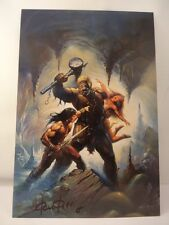 **GENUINE HAND SIGNED KEN KELLY FANTASY ARTIST 'ONE EYED TERROR' & COA**