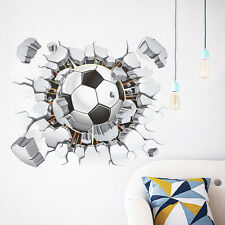 Personalised Football Wall Sticker Soccer Ball Kid Room Decal Stickers