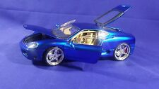 HOT WHEELS WHIPS FERRARI 360 MODENA 1/18 RARE CHROME BLUE