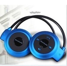 BLUE Sports Stereo wireless bluetooth headset Mini 503 w/ memory card slot