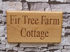 Personalised Wooden House Name Plaque/Signs- Solid wood Oak,Porch, Conservatory