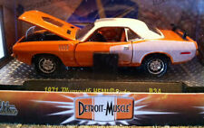 1971 Hemi Cuda M2 Machines Car Detroit Muscle 1:64 Orange Barracuda FREE SHIPPIN