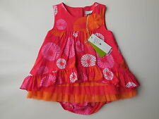 PETIT LEM Baby Girl Tropical Dress + Nappy Cover Size 00 Fits 6mths NEW * Gift