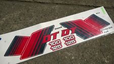 Yamaha 2strokes 1982 DT100 DT125 Sticker Decal Strap Set NEW White Aftermarket