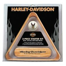 Harley-Davidson® Billiard Starter Pool Set Rack, Cue Ball & Brush HDL-11148