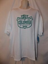 mens columbia sportswear  t-shirt L nwt  outdoor stamp white