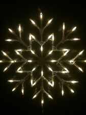 White SnowFlake Window Light 35cm X 35cm Christmas Lights Static Or Flash Option