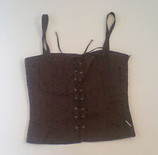 BNWT Full Circle Roxie Dark Brown Top Size 12M