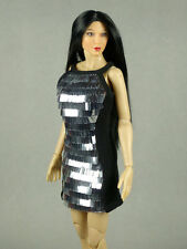1/6 Scale Hot Toys, Kumik, Phicen, ZC, Cy, TTL, VG Female Silver Sequence Dress