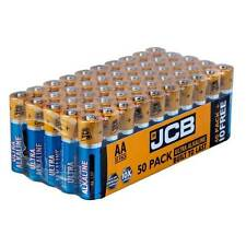 AA  Super Alkaline BATTERIES 50x JCB LR6 MN1500 AA Batteries - Extra Value Pack