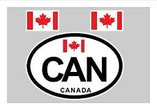 CANADA CANADIAN MAPLE  FLAG WINDOW / BUMPER STICKER FOR CAR BIKE CARAVAN