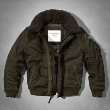 Men's Abercrombie & Fitch Fur Collar Flight Jacket Size M