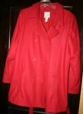 Old Navy Red Wool/Nylon Blend Women's Belted Double-Breasted Peacoat XXL