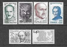France 1980 Red Cross Fund  set of 6 vf MINT never hinged SG 2350 - 2355