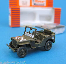 Roco Minitanks H0 645 WILLYS JEEP Military Police US Army WWII HO 1:87 OVP