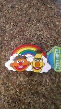 Sesame Street belt buckle Bert and Ernie muppets enamel rainbow pride nwt