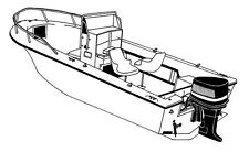 "STYLED TO FIT BOAT COVER V-HULL CENTER CONSOLE 17'6""-18'6"" 96"" BEAM BOW RAILS OB"