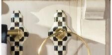 MacKenzie Childs Courtly Check Towel Ring Brand New