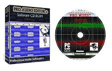Pro Audio Sound Musique MP3 éditeur édition mélange enregistrement logiciel de conversion