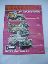 kruse classic car auction  auburn 1990 book,20 TH. year Cord Duesenberg  museum
