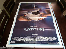 GREMLINS Zach Galligan Phoebe Cates Original 1984 Movie NSS Poster 27x41 Folded