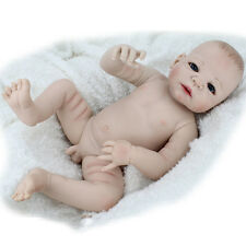 22'' Handmade Reborn Lifelike Boy Doll Full Silicone Vinyl Newborn Dolls Naked