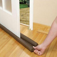 Door Draft Guard Stopper Air Protector Under Draught Excluder Adjustable Brown