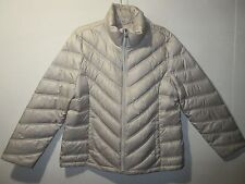 Coat XL Kenneth Cole Silver Gray Puffer Down and Feather Zipper Front NWT G531