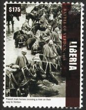 WWI 1916 BATTLE OF VERDUN French Army Cavalry Train Horses Crossing River Stamp