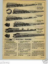 1954 PAPER AD 10 Pg American Flyer Toy Electric Train Sets Silver Comet Diesel