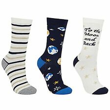 John Lewis Ladies To The Moon And Back Ankle Socks, Pack of 3 Size 4-8 BNWT
