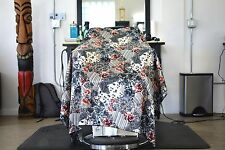 Red Roses Haircut Cape Hairdresser Barber Gown Stylist Cape