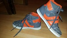 Vlado Footwear Men's Knight II Grey / Orange Hightop Shoes 6.5