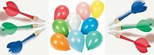 New - 12 Colored Balloon Darts & 144 Helium Balloons - Carnival Pop Game Set