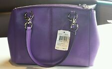 NWT Coach Crossgrain Leather Mini Christie Carryall Cross-body Handbag F36704