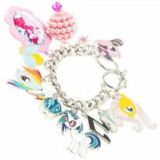 My Little Pony Charm Bracelet with 12 Enamel Colored Metal Charms, NEW UNUSED