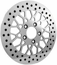 """DNA Mesh 11.5"""" Polished Stainless Steel Harley Front Brake Rotor M-RT-2160"""