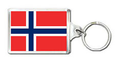 NORWAY FLAG KEYRING SOUVENIR NEW LLAVERO