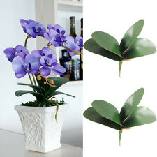 4Pcs Simulation Leaves Artificial Green Leaf Butterfly Orchid Plant Decor Flower